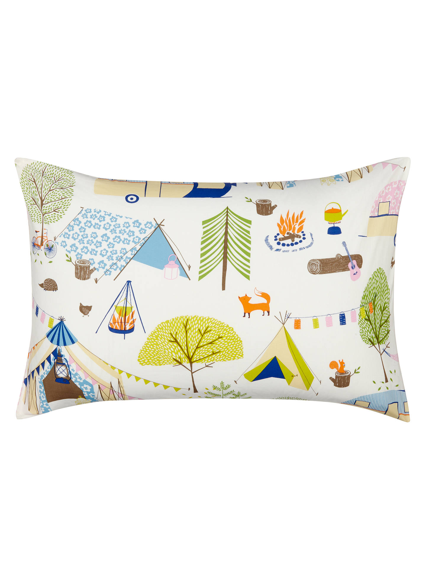 little home at John Lewis Camping Duvet Cover and Pillowcase Set, Single