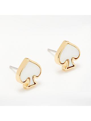 kate spade new york Spade Stud Earrings, Cream/Gold