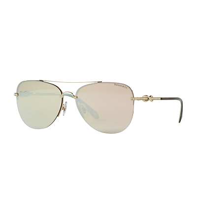 Tiffany & Co TF3054B Embellished Aviator Sunglasses