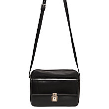 Buy French Connection Clean Caroli Faux Leather Cross Body Bag, Black Online at johnlewis.com