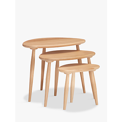 ercol for John Lewis Shalstone Nest of Three Tables