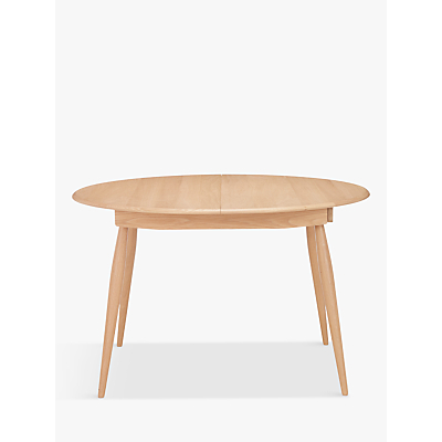 ercol for John Lewis Shalstone 4-6 Seater Extending Round Dining Table, Oak