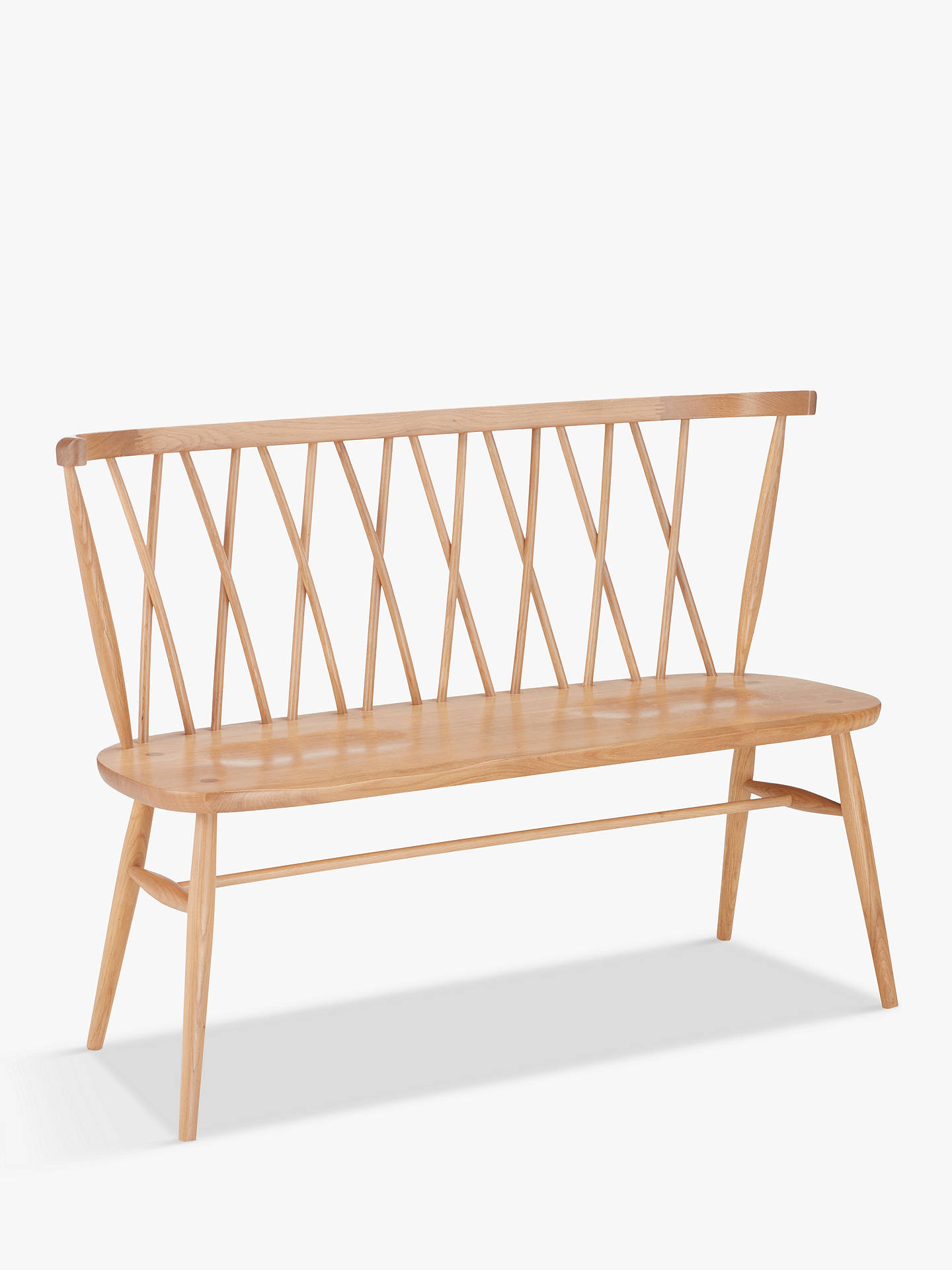 Ercol For John Lewis Shalstone 2 Seater Dining Bench Oak