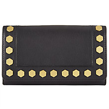 Buy AND/OR Clea Leather Stud Foldover Purse Online at johnlewis.com