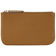 Buy John Lewis Tri Print Leather Coin Purse, Tan Online at johnlewis.com
