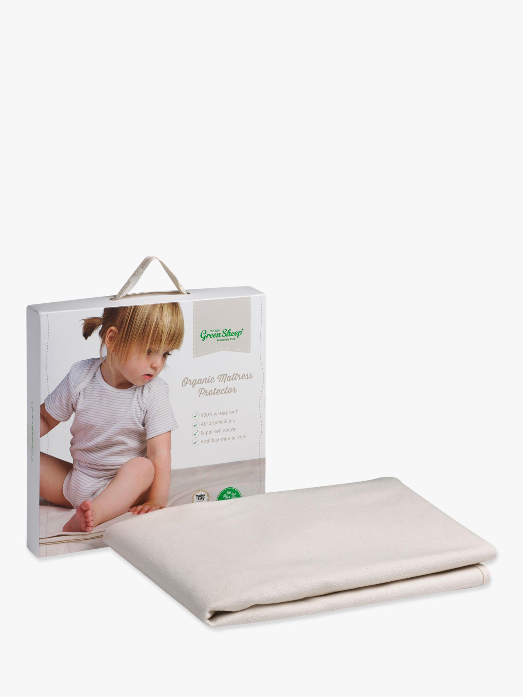 The Little Green Sheep Waterproof Cot Mattress Protector