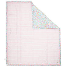 Buy John Lewis Baby Ditsy Scallop Quilt, Pink Online at johnlewis.com