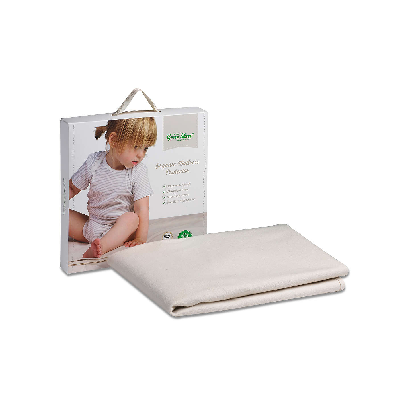 BuyThe Little Green Sheep Waterproof Cotbed Mattress Protector Online at johnlewis.com