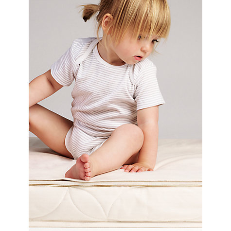 The Little Green Sheep Waterproof Cotbed Mattress Protector Online At Johnlewis