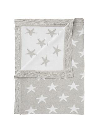 3902734086 John Lewis   Partners Baby Star Knit Blanket