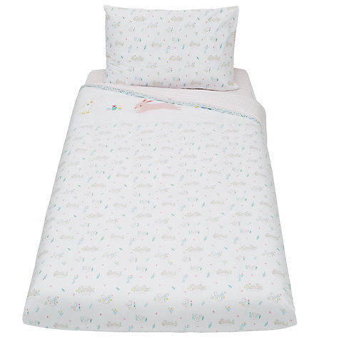 John Lewis Baby Lique Bunny Duvet Set Pink Online At Johnlewis