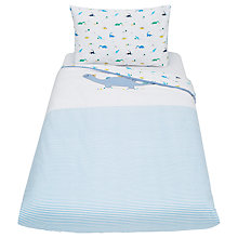 Buy John Lewis Baby Applique Dinosaur Duvet Set, Blue Online at johnlewis.com
