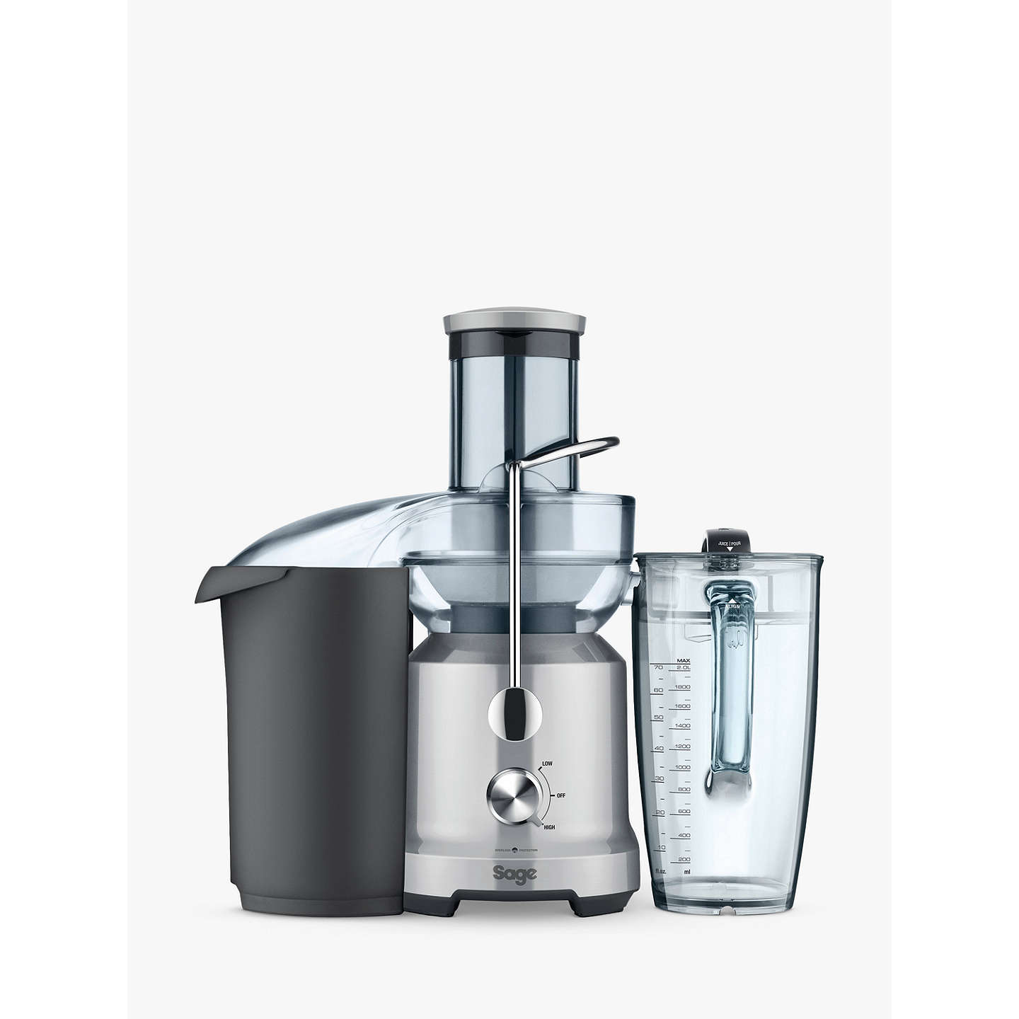 BuySage by Heston Blumenthal BJE430SIL the Nutri Juicer Cold, Silver Online at johnlewis.com