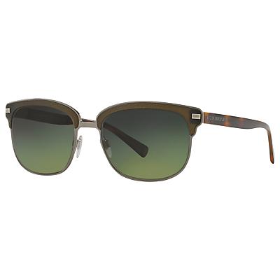 Burberry BE4232 Polarised Square Sunglasses, Tortoise/Green Gradient