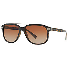 Buy Burberry BE4233 Square Sunglasses, Tortoise/Brown Gradient Online at johnlewis.com