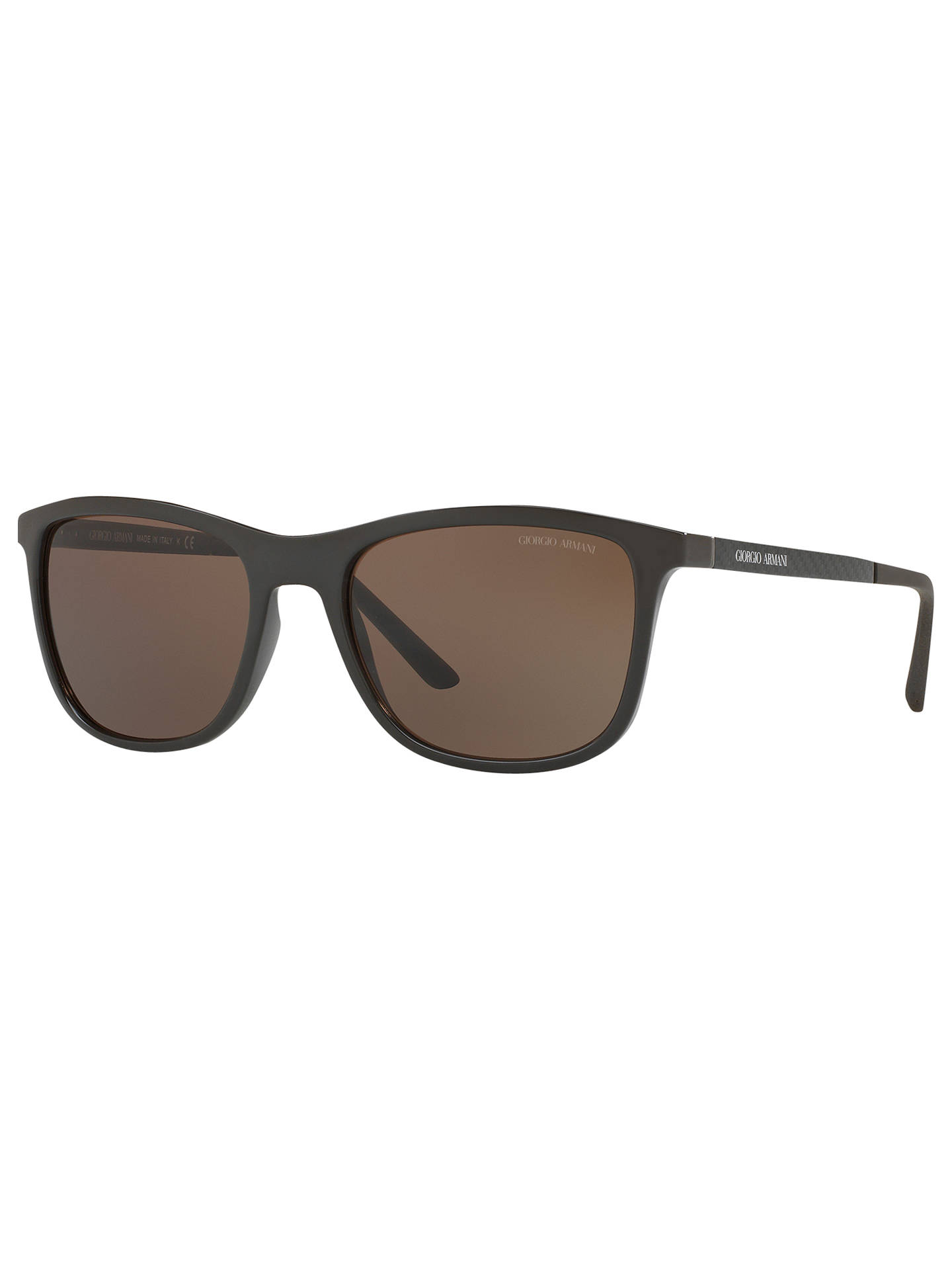 107e9d00dd1b Buy Giorgio Armani AR8087 Square Sunglasses, Matte Grey/Brown Online at  johnlewis.com ...