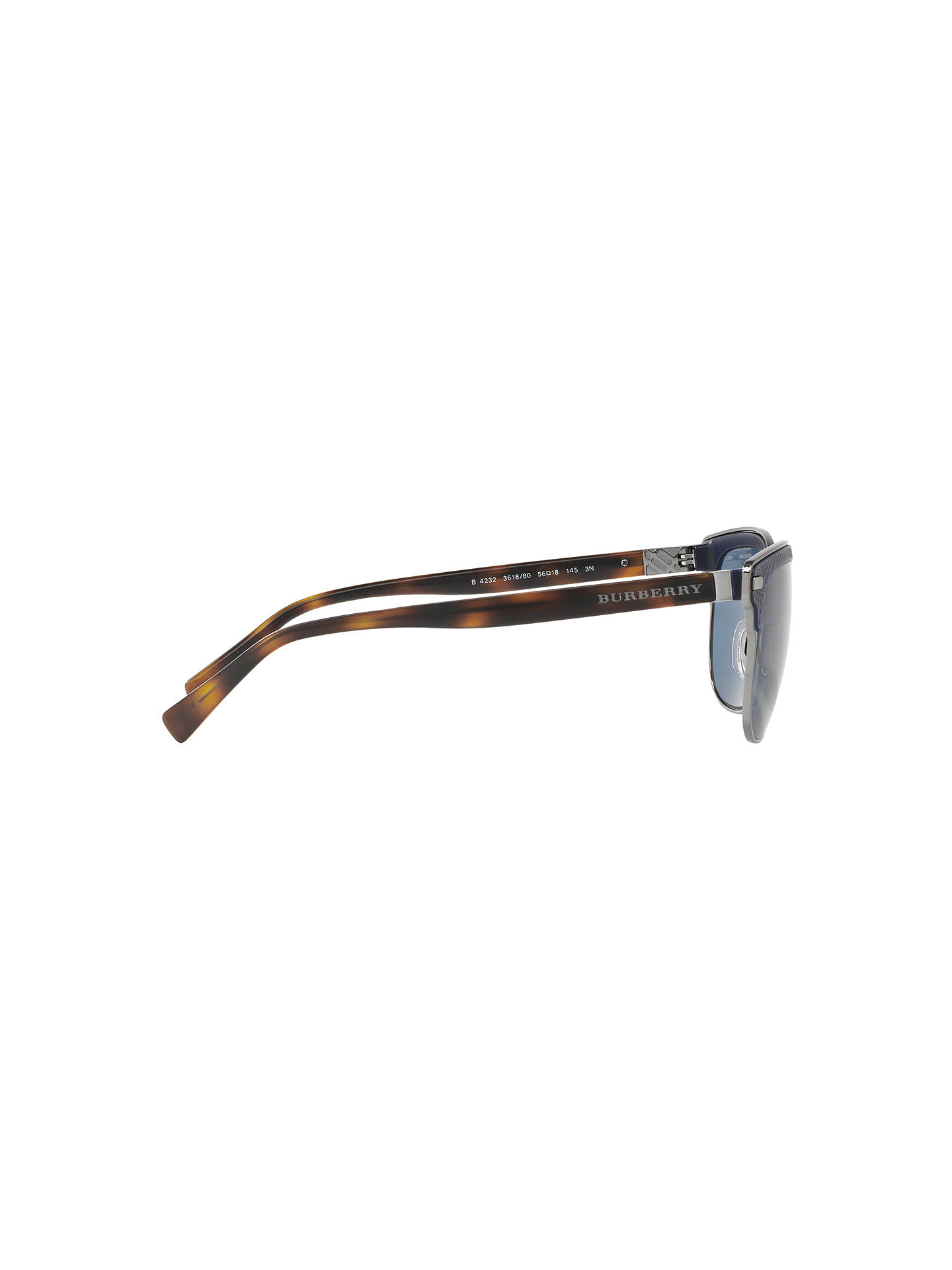 Buy Burberry BE4232 Square Sunglasses, Tortoise/Blue Online at johnlewis.com