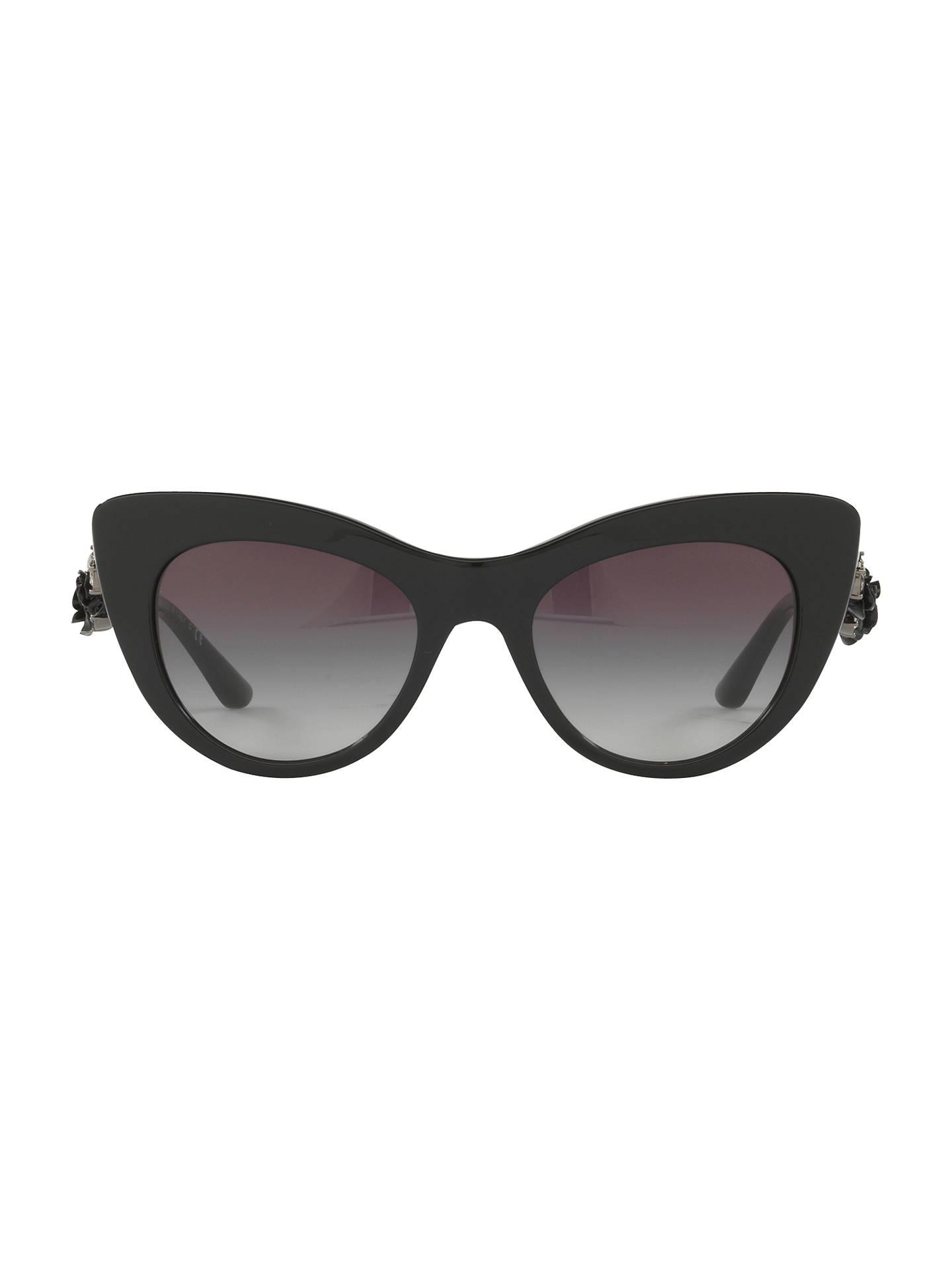 c6c07ff44238 ... Buy Dolce & Gabbana DG4302B Flower Detail Cat's Eye Sunglasses, Dark  Brown Online at johnlewis ...