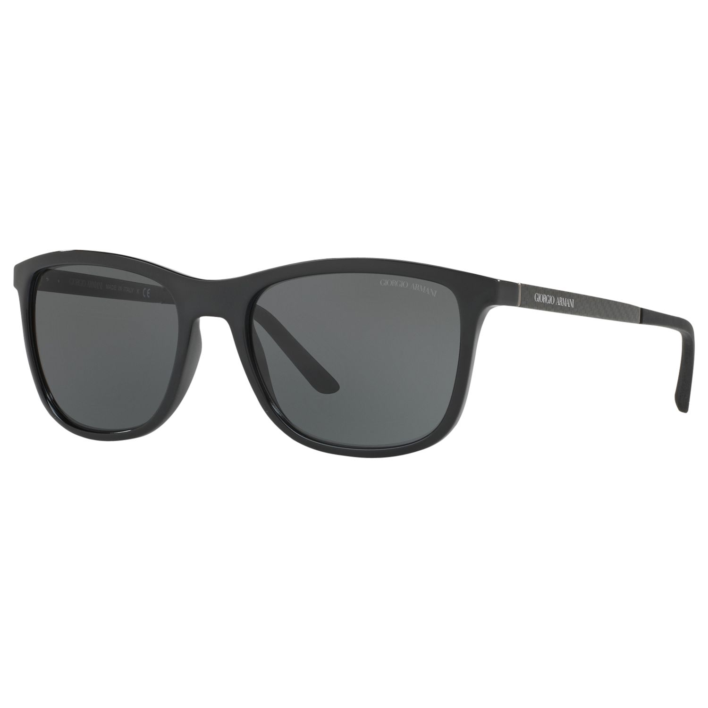 Giorgio Armani Giorgio Armani AR8087 Square Sunglasses, Matte Black/Grey