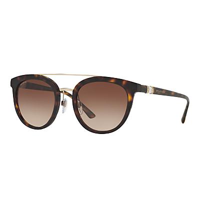 BVLGARI BV8184B Round Sunglasses, Tortoise/Brown Gradient