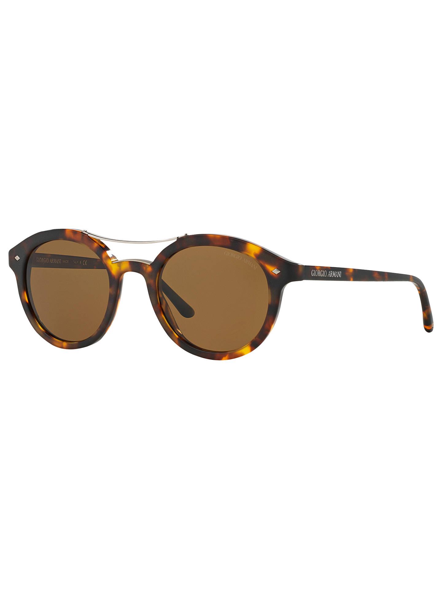 5922d92a22a Giorgio Armani AR8007 Frames of Life Polarised Round Sunglasses ...