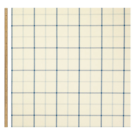 Buy John Lewis William Check Blue Fabric, Price Band B Online at johnlewis.com