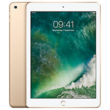 "Buy New Apple iPad (2017), A9, iOS 10, 9.7"", 128GB, WiFi Online at johnlewis.com"
