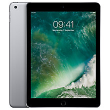 "Buy New Apple iPad (2017), A9, iOS10, 9.7"", 32GB, WiFi Online at johnlewis.com"