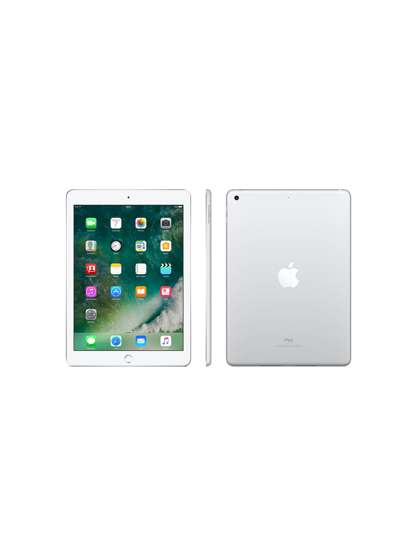 "BuyApple iPad 9.7"", A9, iOS 10, WiFi, 128GB, Silver Online at johnlewis.com"