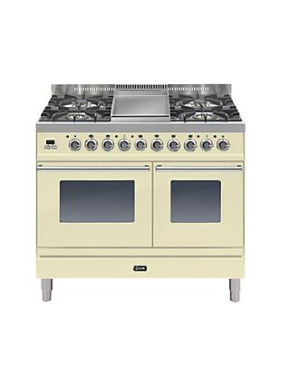 ILVE PDW100FE3 Roma Dual Fuel Freestanding Range Cooker
