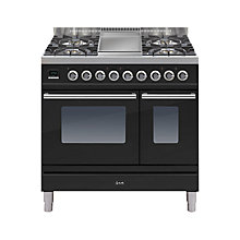 Buy ILVE PDW90FE3 Roma Dual Fuel Freestanding Range Cooker Online at johnlewis.com