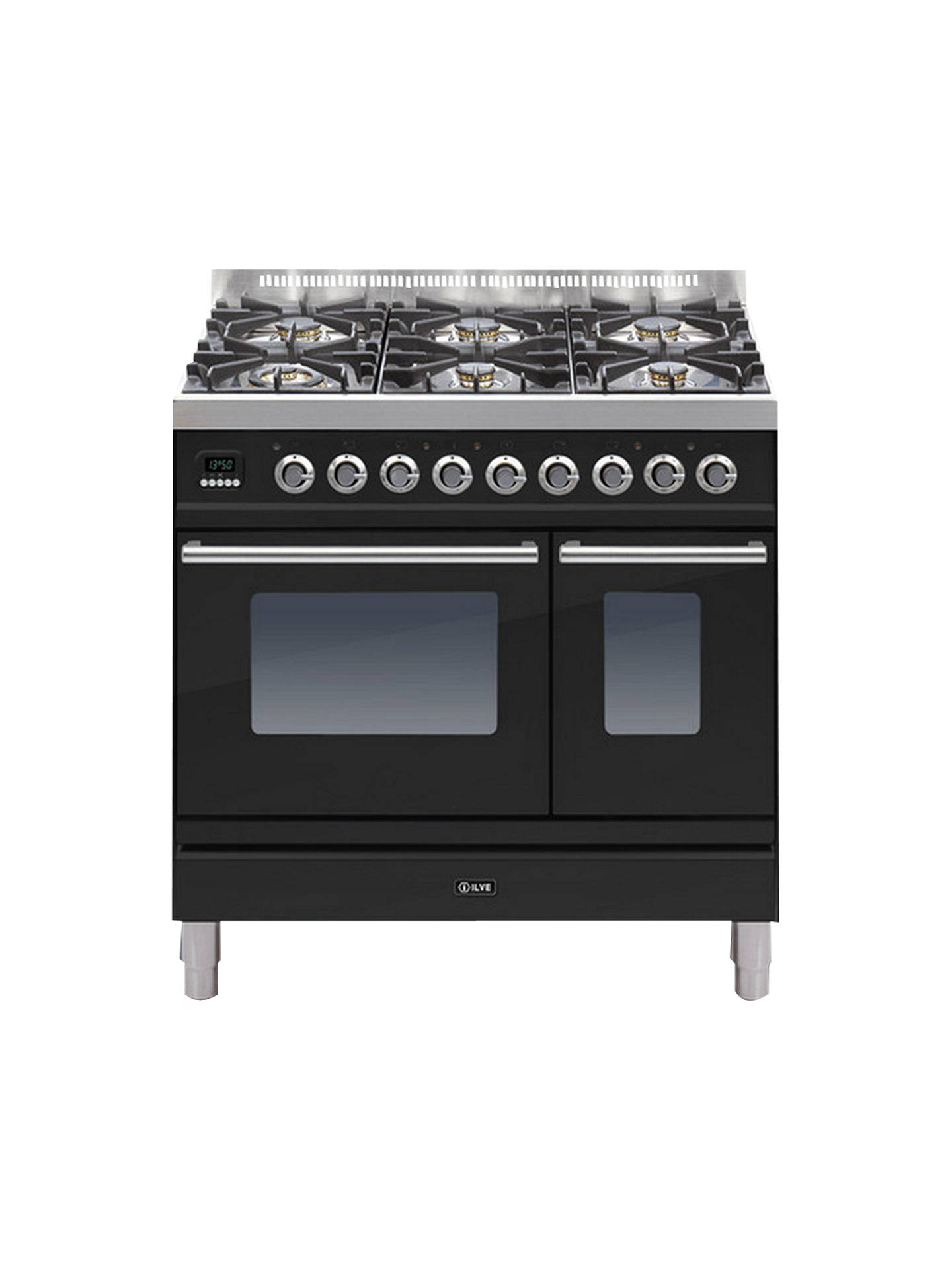Buy ILVE PDW906E3/N Roma Freestanding Dual Fuel Range Cooker, Black Online at johnlewis.com