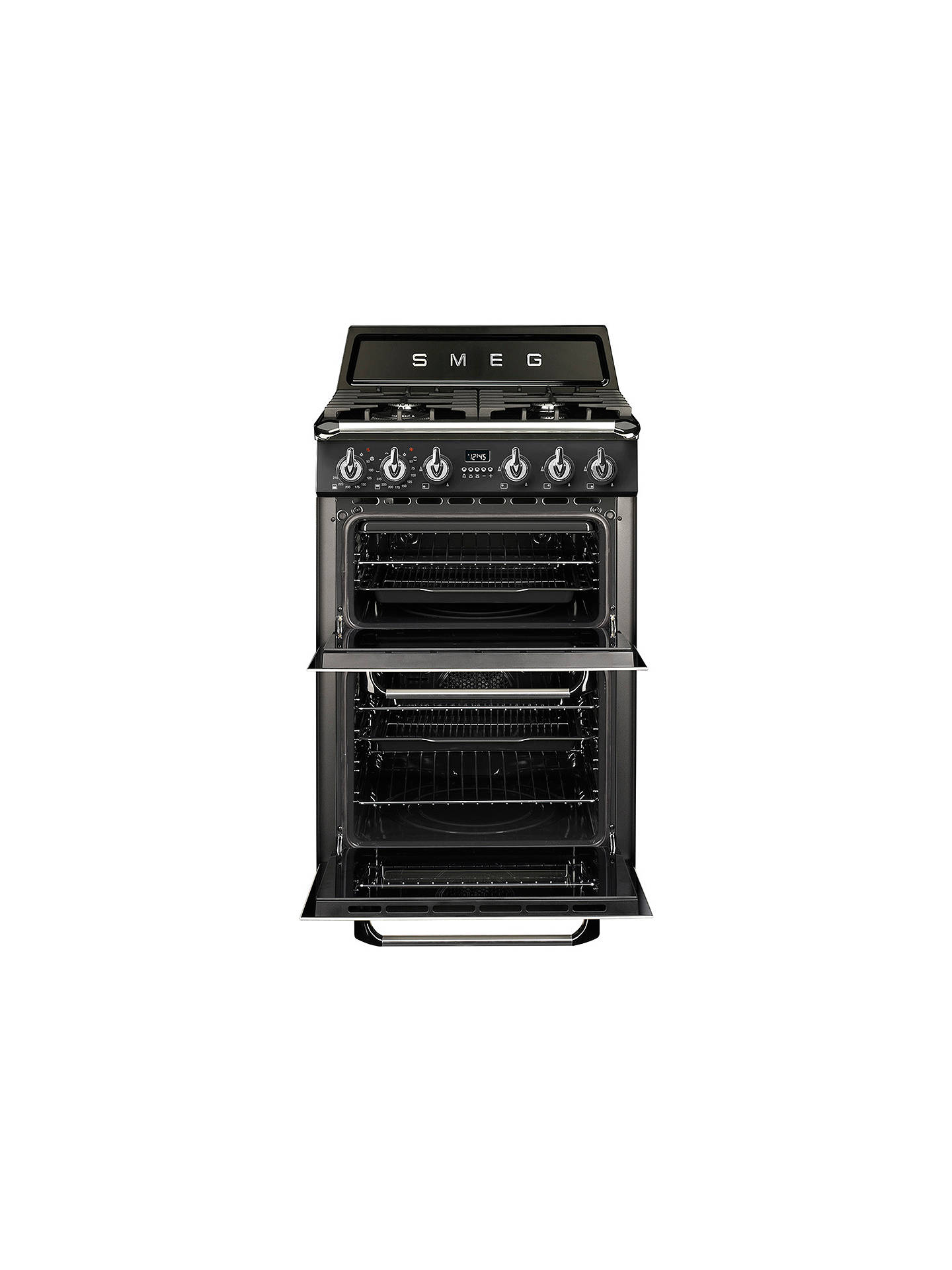 Buy Smeg TR62BL Double Dual Fuel Cooker, A Energy Rating, Black Online at johnlewis.com