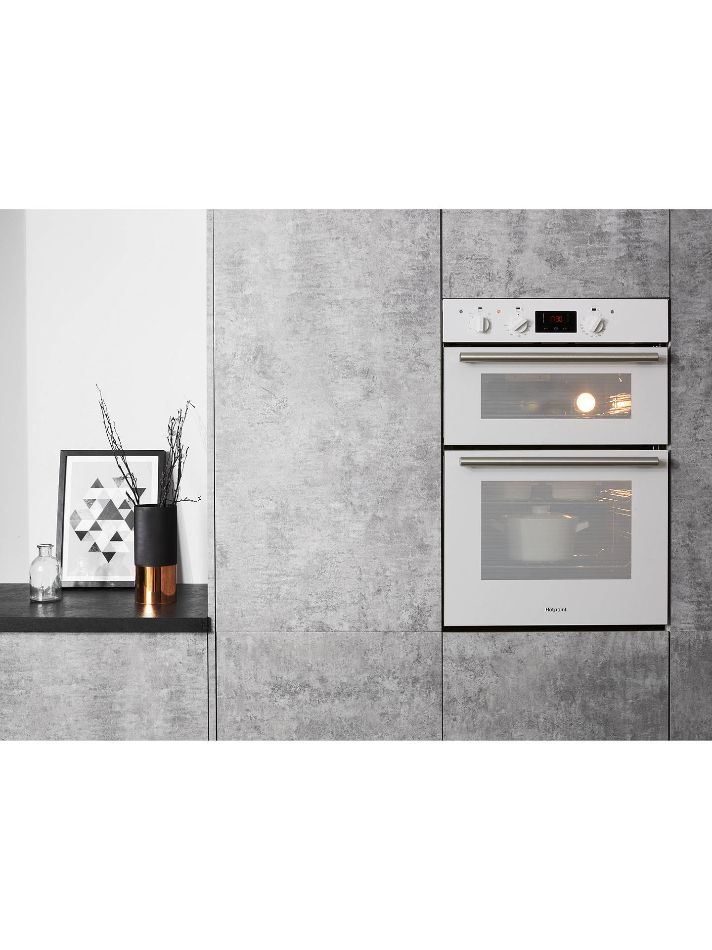 Hotpoint Dd2540wh Class 2 Built In Double Oven White At