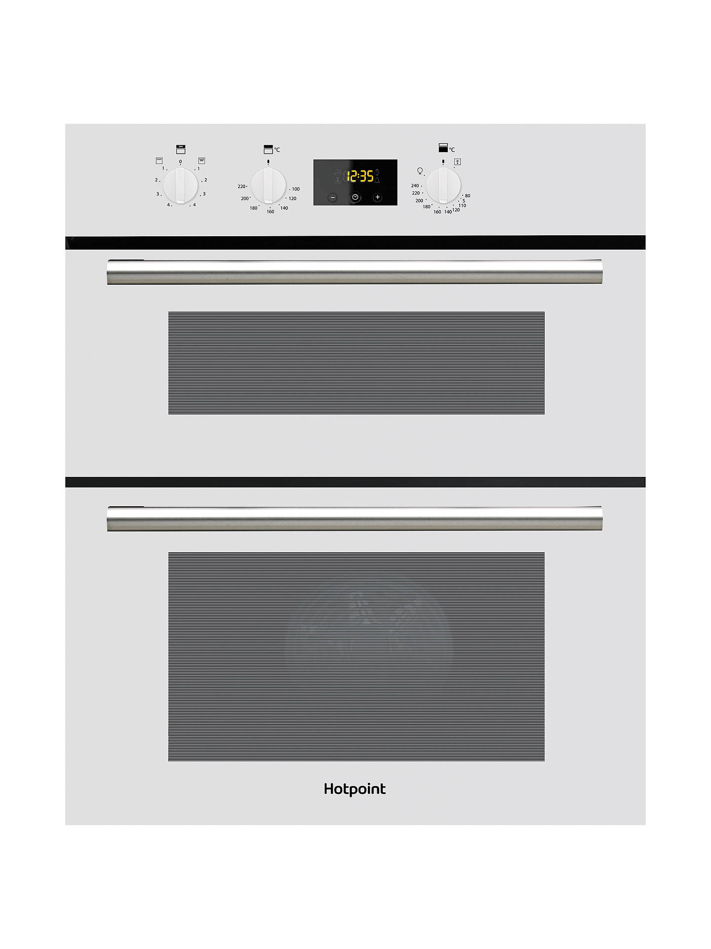 hotpoint du2540 class 2 built in electric double oven. Black Bedroom Furniture Sets. Home Design Ideas
