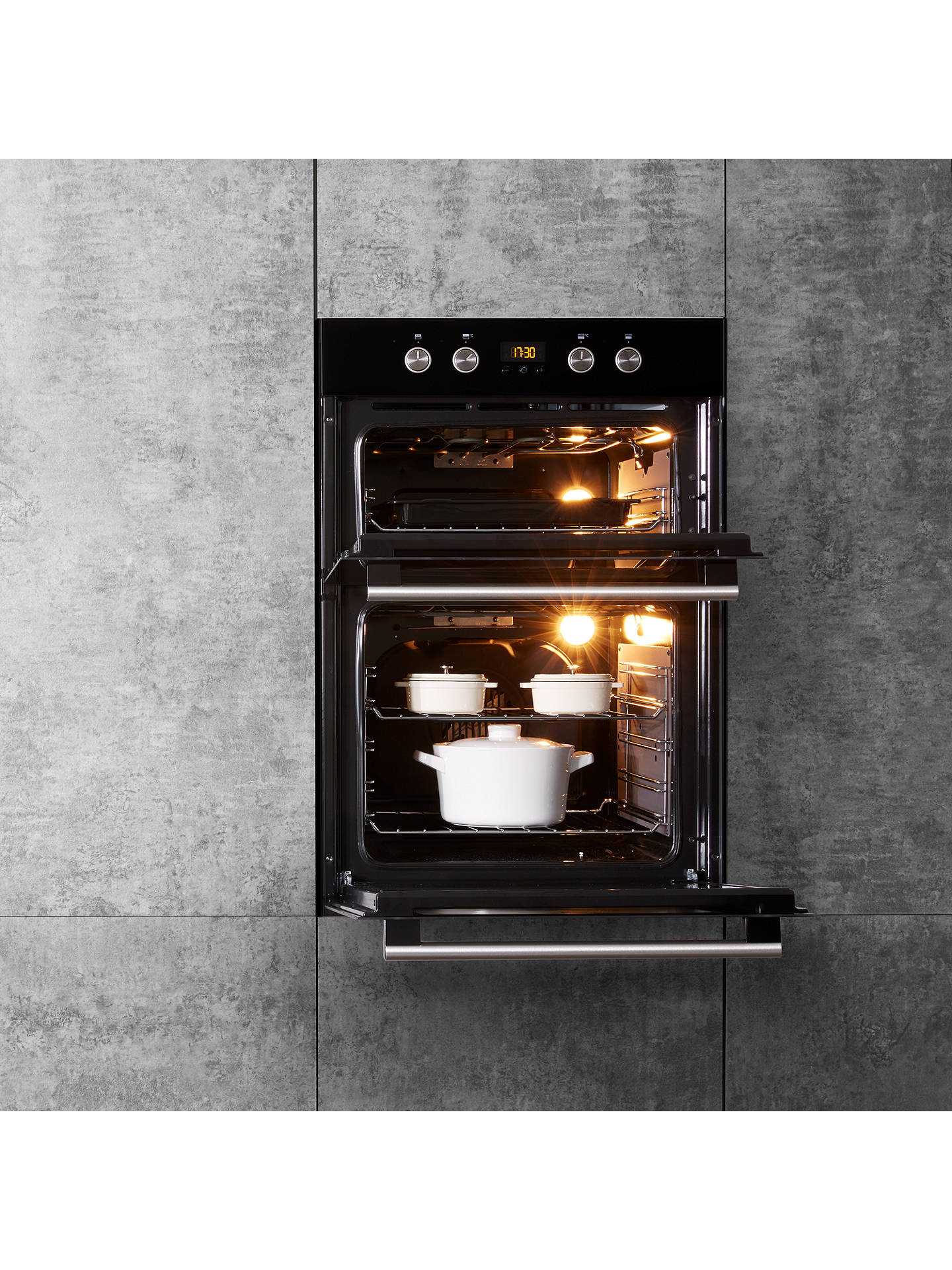 hotpoint dd2844c built in electric double oven at john. Black Bedroom Furniture Sets. Home Design Ideas