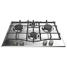 Buy Hotpoint PCN642IXH Gas Hob, Stainless Steel Online at johnlewis.com