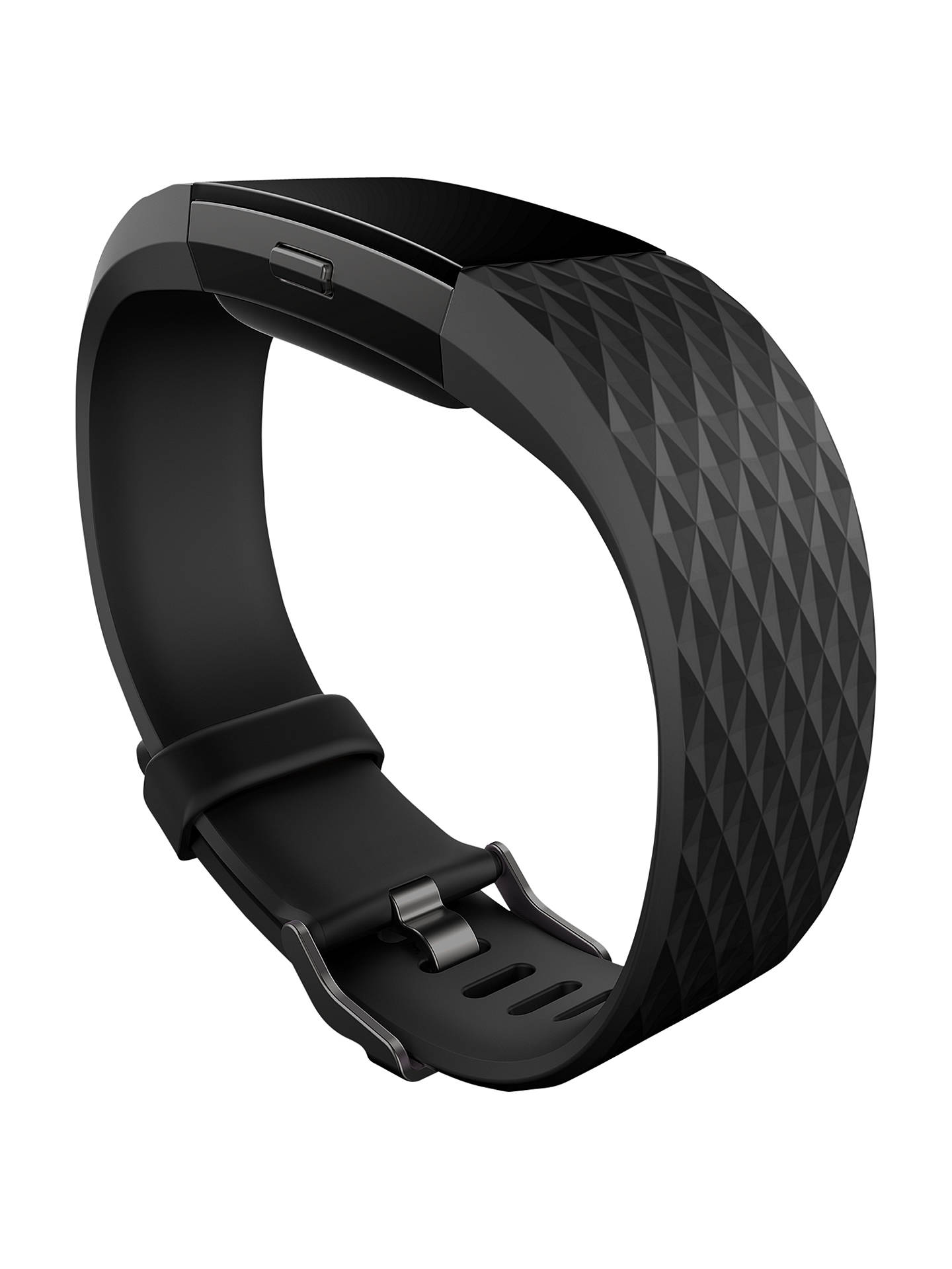 Buy Fitbit Charge 2 Heart Rate and Fitness Tracking Wristband Special Edition, Large, Black / Grey Online at johnlewis.com