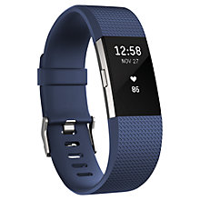 Buy Fitbit Charge 2 Heart Rate and Fitness Tracking Wristband, Large Online at johnlewis.com