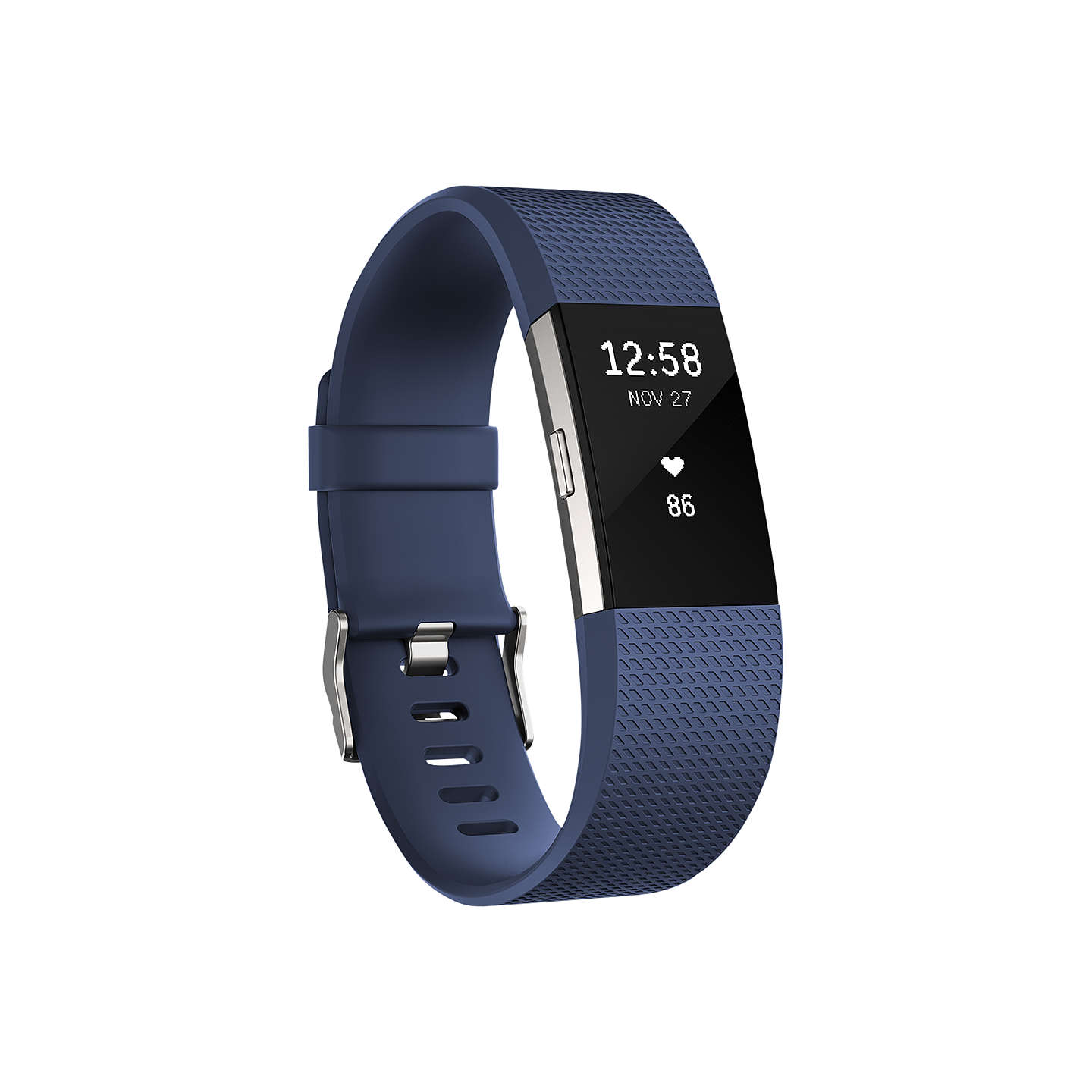 BuyFitbit Charge 2 Heart Rate and Fitness Tracking Wristband, Large, Blue Online at johnlewis.com