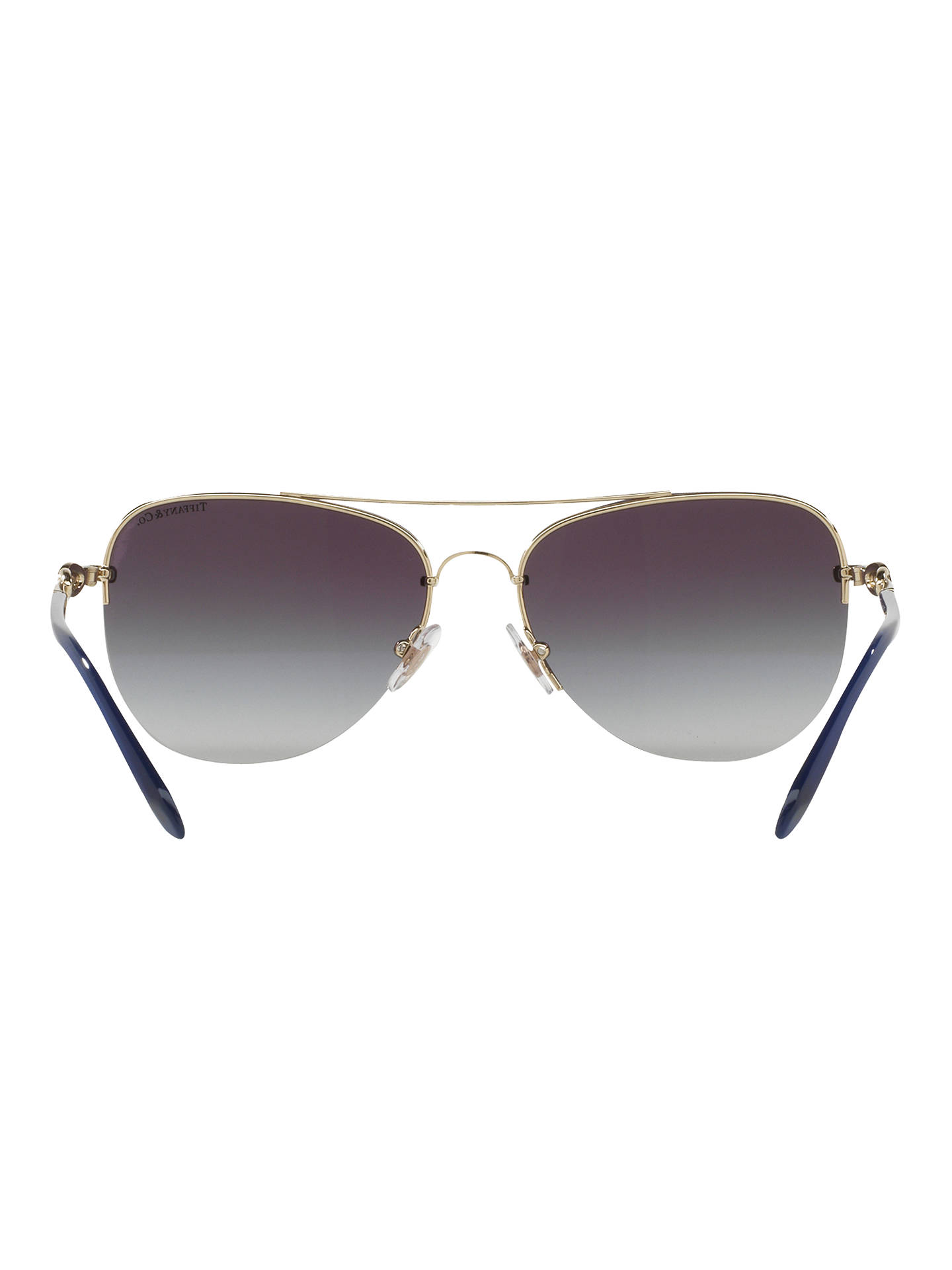 Buy Tiffany & Co TF3054B Embellished Aviator Sunglasses, Gold/Grey Gradient Online at johnlewis.com