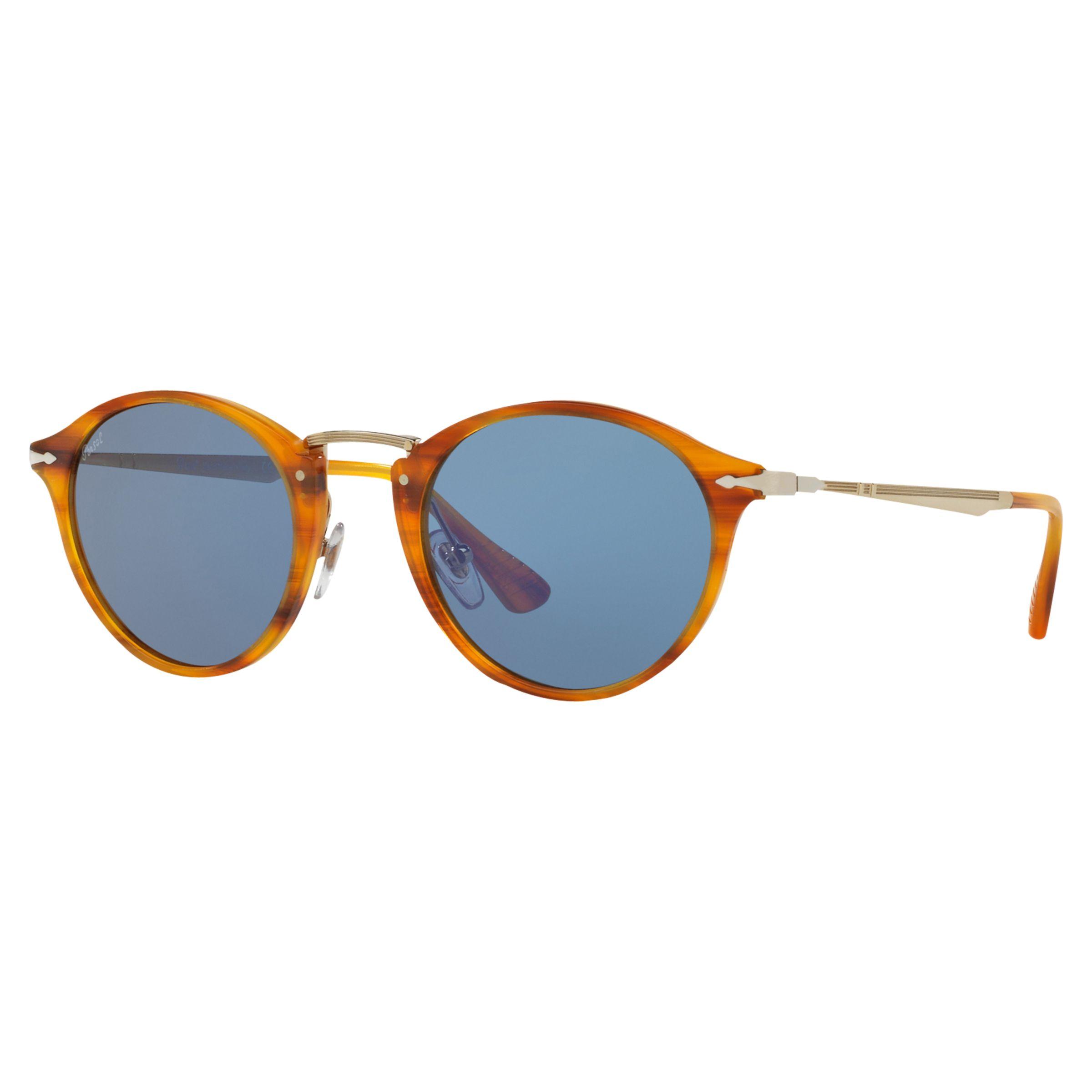 Persol Persol PO3166S Calligrapher Edition Oval Sunglasses, Havana/Blue