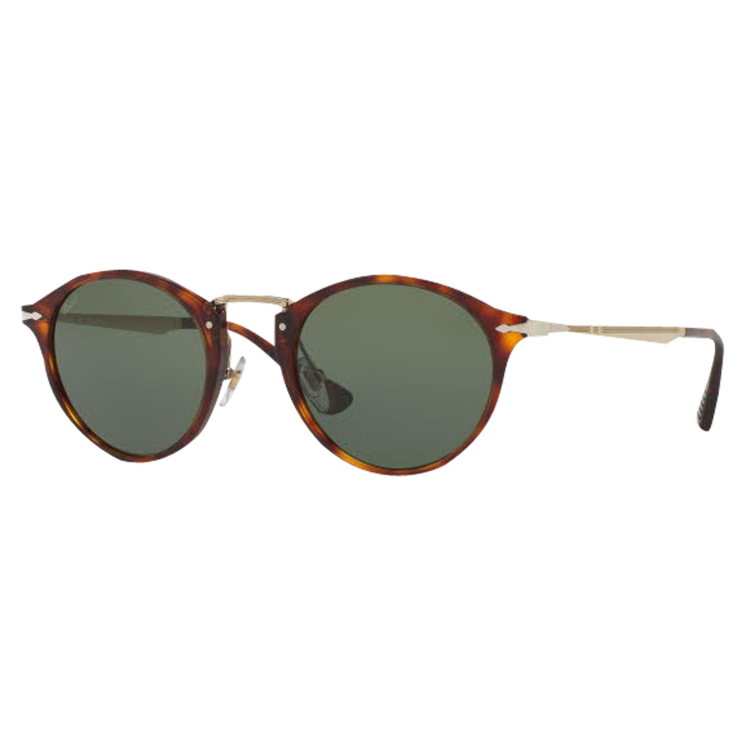 Persol Persol PO3166S Calligrapher Edition Oval Sunglasses, Tortoise/Dark Green