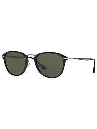 1fbae445d65e Persol PO3165S Polarised D-Frame Sunglasses, Black/Dark Green