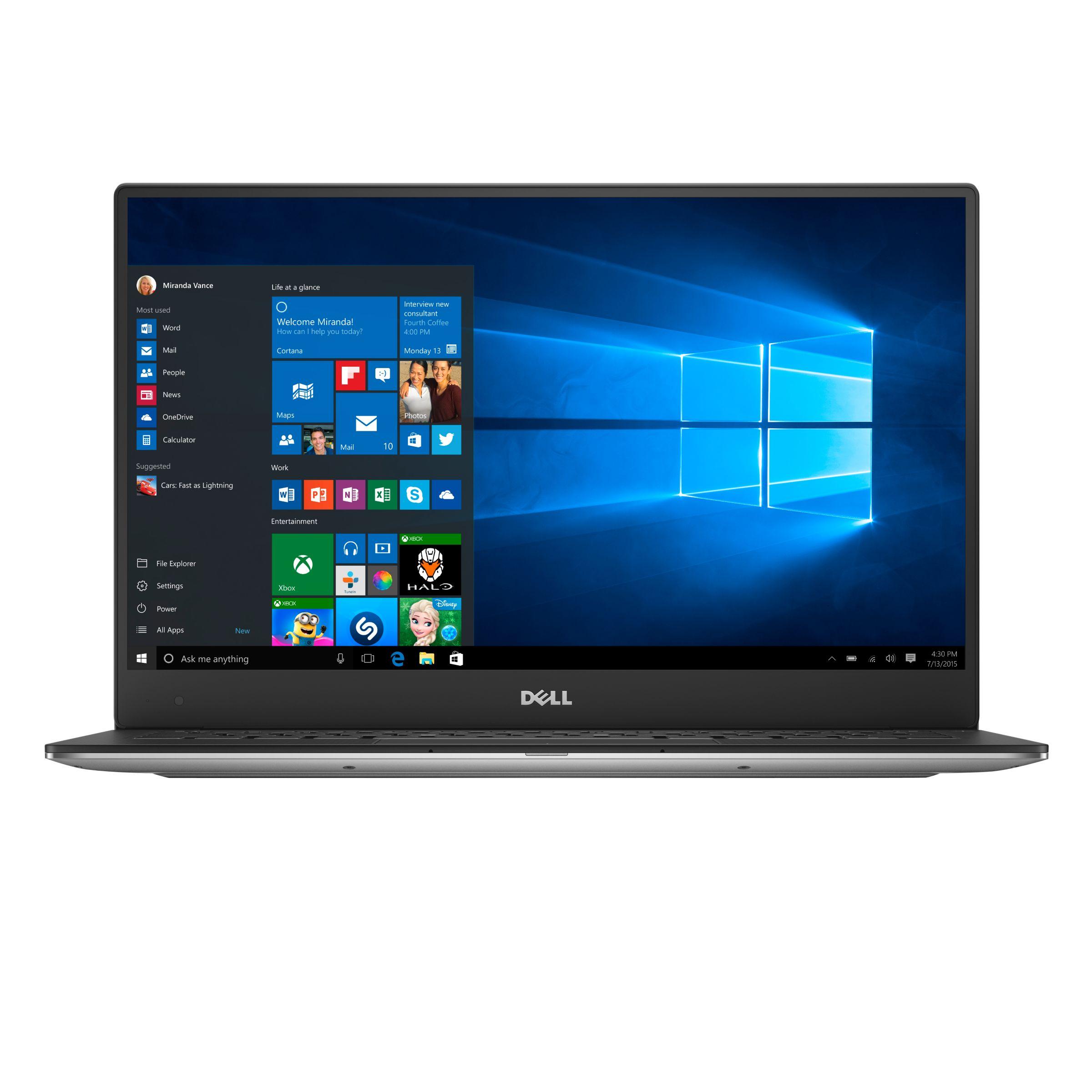 Dell Xps 13 Notebook Intel Core I5 8gb Ram 256gb Ssd Full Hd 13 3 Screen 7th Gen Silver At John Lewis Partners