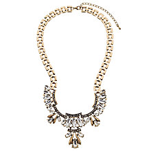Buy John Lewis Art Deco Glass Crystal Short Necklace, Gold Online at johnlewis.com
