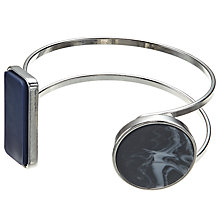 Buy John Lewis Open Work Geometric Cuff, Navy/Marble Charcoal Online at johnlewis.com