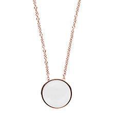Buy Skagen Sea Glass Round Pendant Necklace Online at johnlewis.com