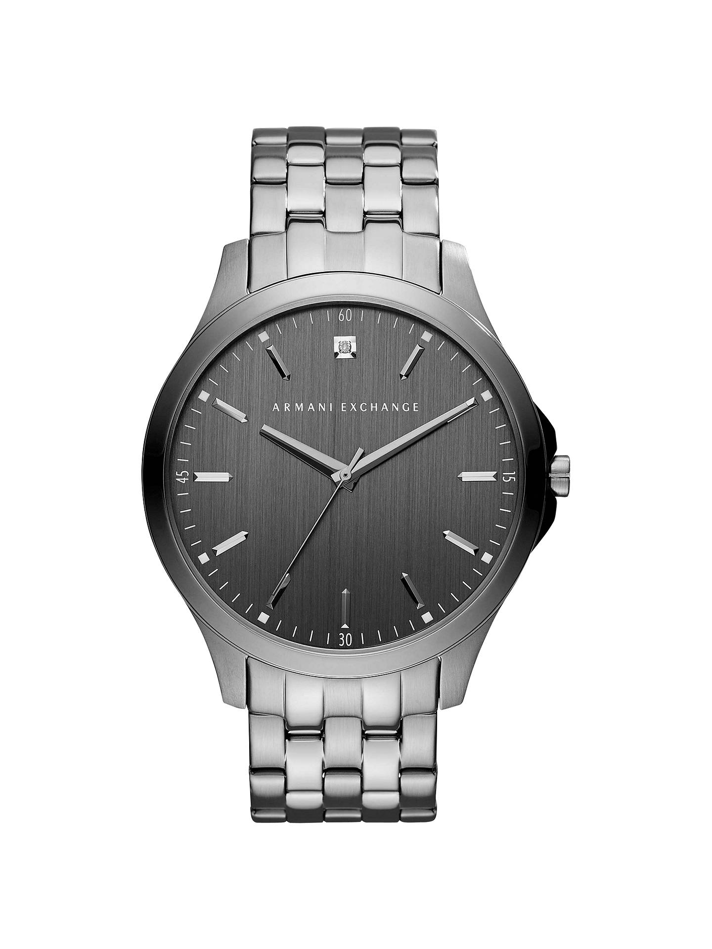5c71a32049f BuyArmani Exchange AX2169 Men s Bracelet Strap Watch, Silver Grey Online at  johnlewis. ...