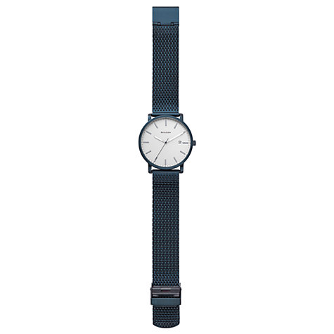 Buy Skagen SKW6326 Men's Hagen Date Bracelet Strap Watch, Navy/White Online at johnlewis.com